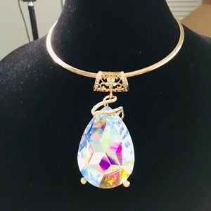 Traci Lynn Jewelz Drop Diamond Choker Set